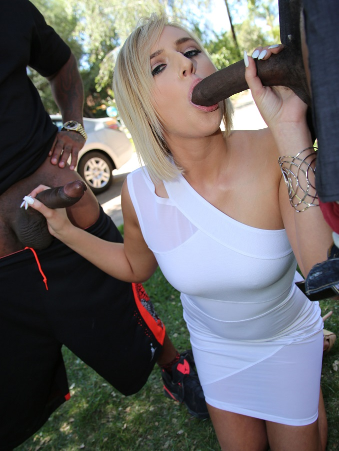 Kate England Elegant Girl In White Dress Cheating With BBC